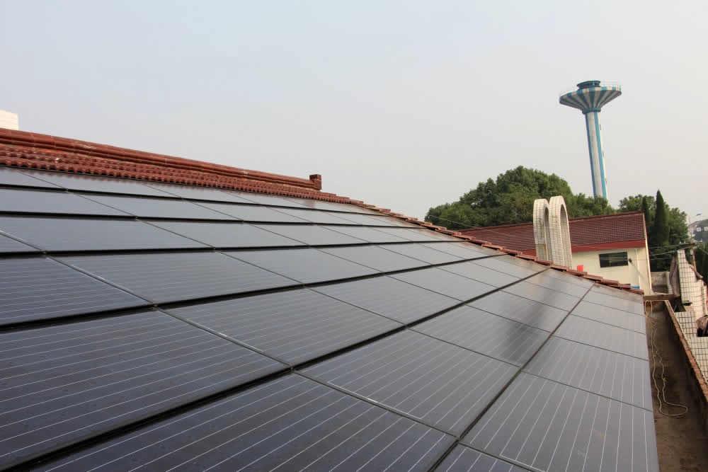 江阴市顾山镇红豆村屋顶电站项目建成