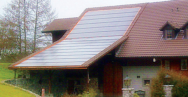 Adelboden PV TILE ROOF IN SWITZERLAND