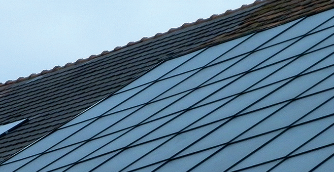 St.Gallen PV TILE ROOF IN SWITZERLAND